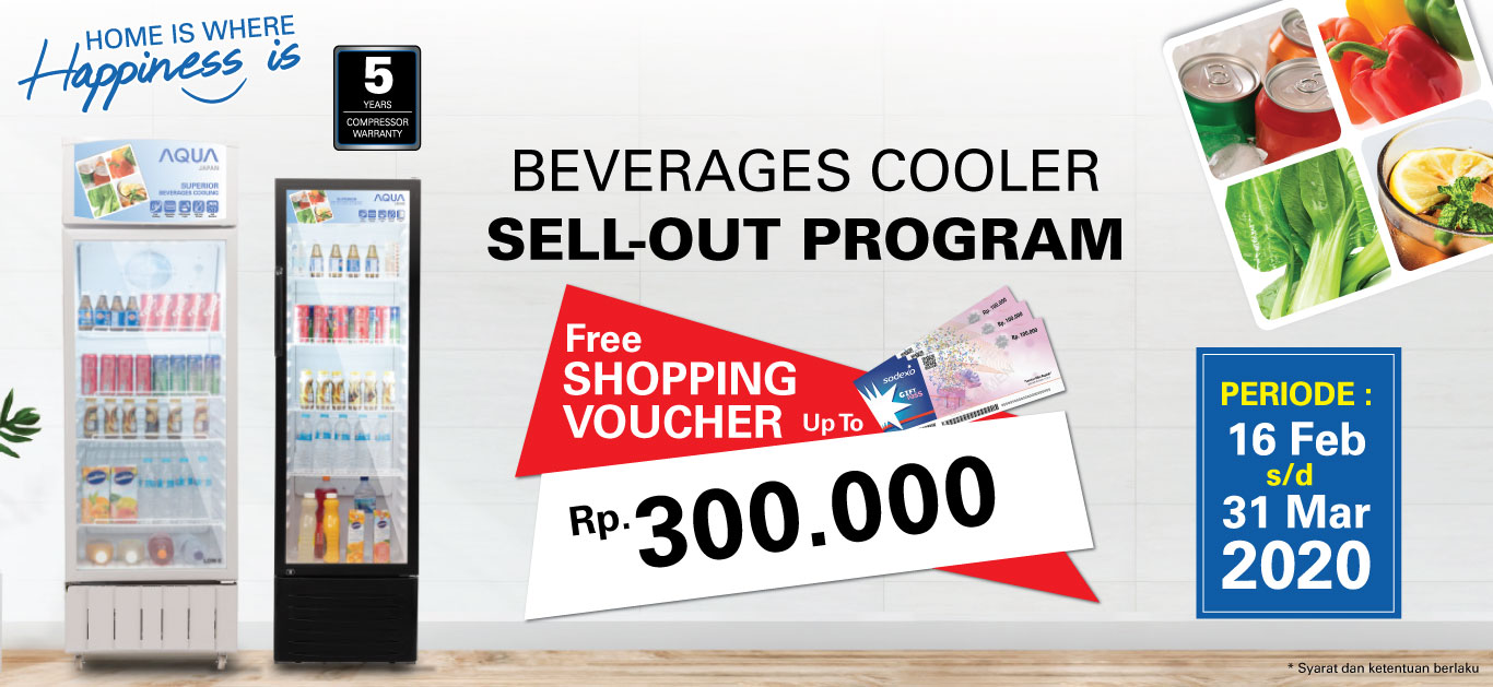 Sell-out Program Beverage Cooler AQUA Japan